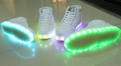 Department Name: Adult Item Type: Light Up, Re-Chargeable Shoe Width: Medium(B,M) US Size Feature: 8 Colors in 1, Re-Chargeable, Adjustable Light Up Shoes Closure Type: Lace-Up Upper Material: Flock I