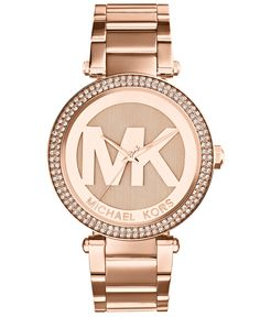 Michael Kors Women's Parker Rose Gold-Tone Stainless Steel Bracelet Watch 39mm MK5865 - Watches - Jewelry & Watches - Macy's