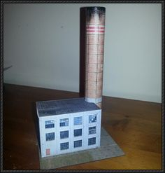 Old Factory for Diorama Free Building Paper Model Download - http://www.papercraftsquare.com/old-factory-diorama-free-building-paper-model-download.html