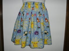 Pokemon dress, pokemon skirt, pokemon clothing, Women skirt. Ladies skirt. Handmade.. $28.00, via Etsy.