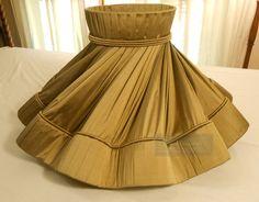 Knife pleated detail to flounce and top, fully lined Make A Lampshade, Fabric Lampshade, Lampshades, Moda Peru, Custom Lamp Shades, Lampshade Designs, Shabby, Table Lamp Shades, Handmade Lamps