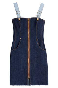 4/29/16      Brand/Designer: Natasha Zinko     Material: Denim     Dress Length: Mini-Dress     Shoulder: Adjustable Straps     Embellishments: Pocket(s)     Closure/Back: Front Zipper     Size Category: Adult     Available Colors: Blue      Price: $1000.00