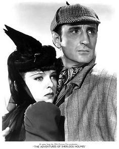 Ida Lupino and Basil Rathbone in The Adventures of Sherlock Holmes