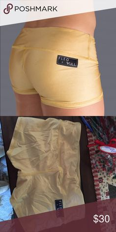 Fleo and vull shorts size medium worn once Gold fleo and vull shorts fleo and vull Shorts