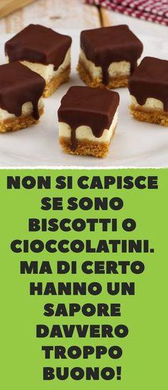 Non si capisce se sono biscotti o cioccolatini. Ma di certo hanno un sapore davvero troppo buono!