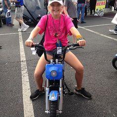She was loving riding around on her new Burromax TT250!  #gatewaymotorsportspark #nhra #electricminibike #minibike #burromax