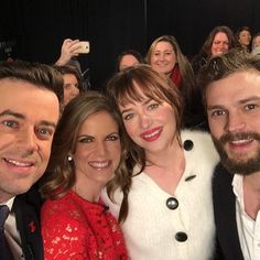 """NMoralesNBC: With the stars of #FiftyShadesToday before @todayshow first look at the film """