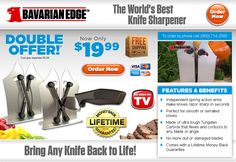 Bavarian Edge is an innovative knife sharpener featuring independent spring action arms. Does it work as advertised? Here is our Bavarian Edge review.