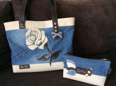 sac et pochette le Rose en jean et simili : Sacs à main par sur-fil