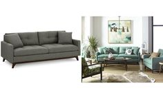 Nari Tufted Back Sofa with 2 Toss Pillows- Custom Colors, Only at Macy's - Couches & Sofas - Furniture - Macy's