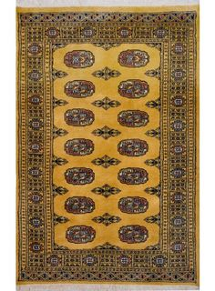 "Gold Oriental Bokhara Rug 3' 1"" x 4' 11"" (ft) - No. 11211  http://alrug.com/gold-oriental-bokhara-rug-3-1-x-4-11-ft-no-11211.html"