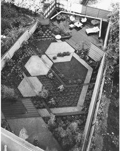 Garden for Arkin Residence, 1951. #RobertCornwall, landscape architect