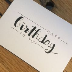 diy birthday cards for mom Handlettering birthday card Birthday Cards For Her, Bday Cards, Happy Birthday Gifts, Handmade Birthday Cards, Card Birthday, Birthday Greetings, Birthday Ideas, Birthday Quotes, Happy Birthday Letters