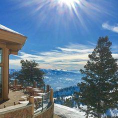 John Paul Lodge is the perfect place to enjoy sunny skies and #beUTAHful views! #snowbasinresort #skiutah #lifeelevated #myogden Photo:  @ten65