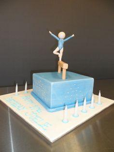 Gymnastics Cake by kylie.cakes, via Flickr