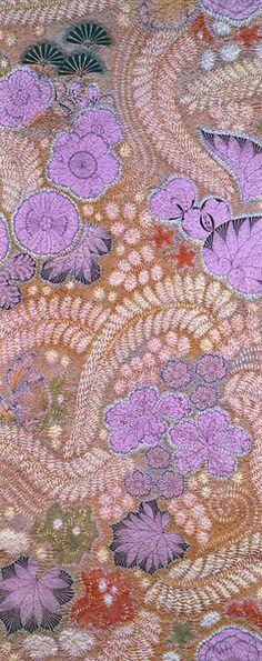 Kimono textile by Itchiku KUBOTA, Japan
