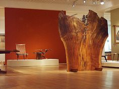 Mingei museum's exhibition of Nakashima...That huge slab with feet is just amazing...