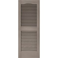 Builders Edge 15 in. x 39 in. Louvered Vinyl Exterior Shutters Pair in #