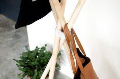 Make a simple wood and leather coat rack www.apairandasparediy.com