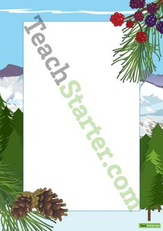 Mountain Page Border | Teaching Resources - Teach Starter