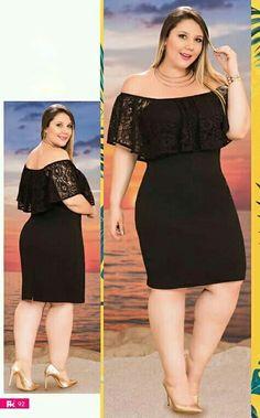 Big Size Fashion, Plus Size Fashion For Women, Curvy Women Fashion, Plus Size Black Dresses, Plus Size Summer Dresses, Plus Size Outfits, Rustic Dresses, Glam Dresses, Fashion Dresses