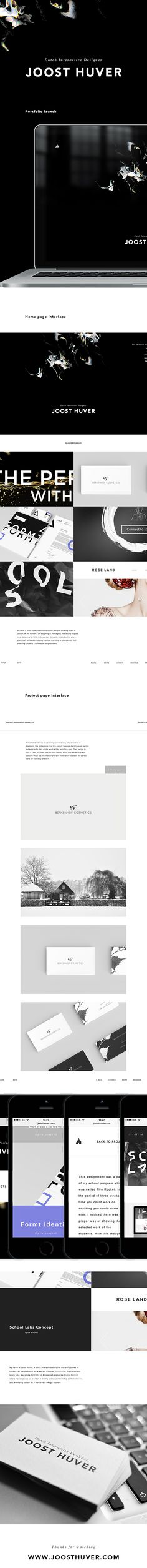 Portfolio launch 2014 by Joost Huver, via Behance #portfolio