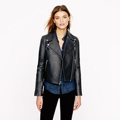 Collection leather moto jacket-jcrew collection