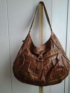 Next Tan Worn Leather Look Handbag