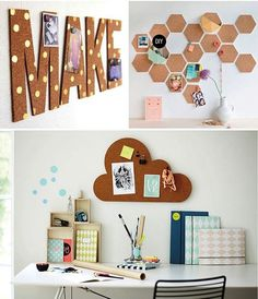 ideas para decorar paredes 23 #homeoffice #DIY www.celestianshop.com