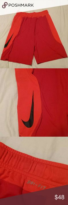 Men's Nike Dri Fit Shorts Red Orange Bright red and orange colors and ready for your next game or workout. You can stay cool as these pull sweat away to keep you dry and comfortable. Nike Shorts Athletic