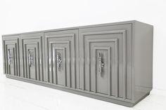 Art Deco Credenza in Greystone