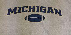 Michigan Wolverines Football Gray X-Large Short Sleeve Tee T-Shirt XL I1 #Champs #MichiganWolverines