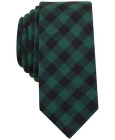 Complete your sophisticated look in a timeless way with the classic check pattern, bold-tones and slim, modern design of this refined Hawkins tie from Bar Iii. | Cotton | Machine washable | Imported |