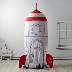 To the Moon rocketship playhouse for kids. LIghtweight, and easy to move around. Nice for smaller spaces, too.