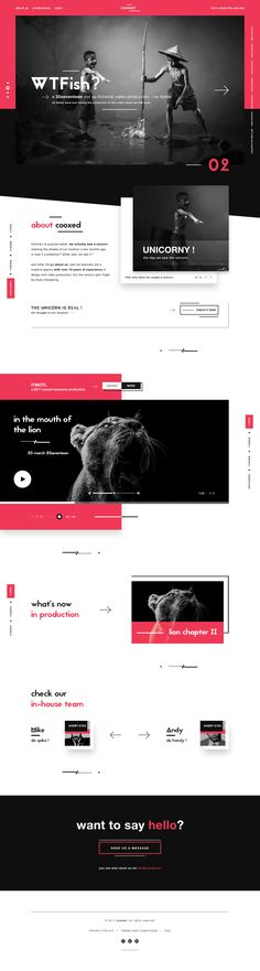 Cooxed digital video agency landing page funky dribbble modern v3 (UX/UI design)