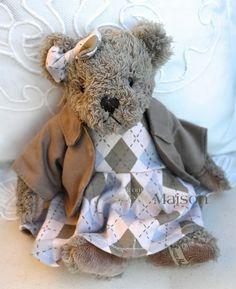 Miś Alma szary - BelleMaison.pl Teddy Bears, Shabby Chic, Toys, Animals, Home Decor, Activity Toys, Animales, Decoration Home, Animaux