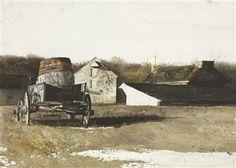Cider Barrel By Andrew Wyeth ,1969