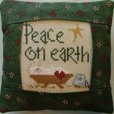 Peace on Earth Pillow Kit - Cross Stitch Kit
