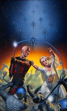 richard corben - the centrifugal rickshaw dancer paperback novel cover, 1985