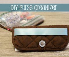 DIY Purse Organizer From A Hot Pad