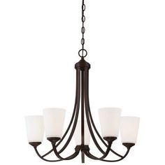Minka Lavery 4965-284 5 Light 1 Tier Chandelier from the Overland Park Collection, Gold