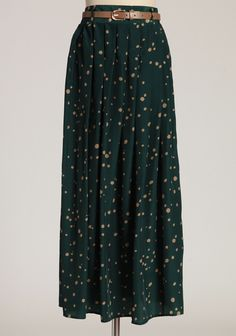 Emerald Bay Belted Dotted Skirt | Modern Vintage New Arrivals