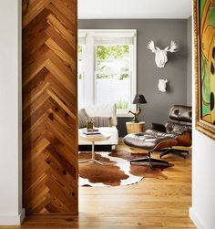 Herringbone pocket door?