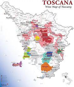 Tuscan Wine Map DOC & DOCG