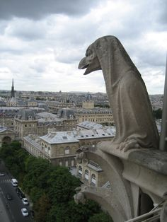 Notre Dame - Gargoyle in the shape of a hooded lizard said to represent the French clergy