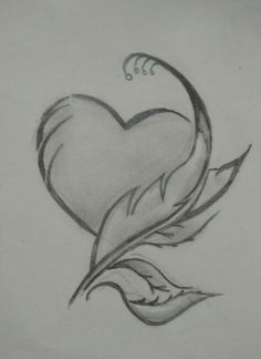 Heart and feather art unique drawings, love drawings, disney drawings, beautiful drawings, Easy Pencil Drawings, Art Drawings Sketches Simple, Unique Drawings, Pencil Drawing Tutorials, Love Drawings, Beautiful Drawings, Disney Drawings, Drawing Ideas, Drawings Of Hearts