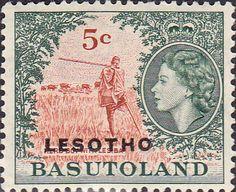 1966 Lesotho Overprint SG 111 Fine Mint Scott 6 Other Africa Stamps HERE
