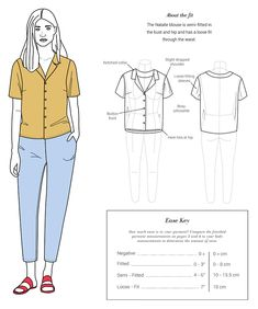The Natalie button-up top sewing pattern, from Seamwork. The Natalie button-up blouse features a flattering relaxed fit and a notch collar. Blouse Patterns, Clothing Patterns, Sewing Patterns, Shirt Patterns For Women, Skirt Patterns, Coat Patterns, Sewing Clothes, Diy Clothes, Sewing Coat