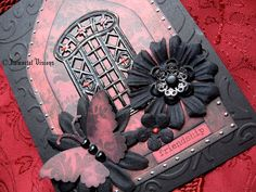 Gothic Greeting Card  Midnight Garden Iron by ImmortalVisions, $8.50
