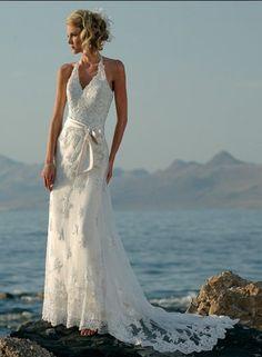 beach wedding dress, lovely &sexy..